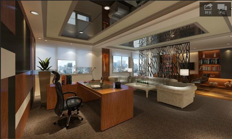 董事長室裝修效果圖;; 200平方董事長辦公室裝修設計;; 大中小董事長