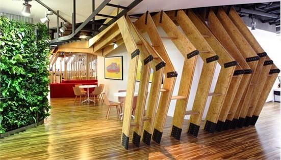 创意型公司办公室装修效果图         办公室室内设计最具特色的绿色