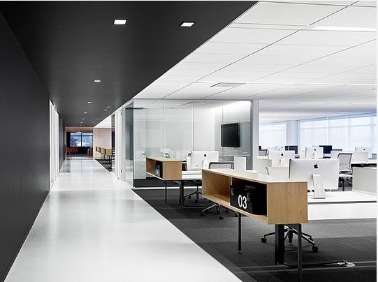 写字楼办公室界面装修效果图 郑州写字楼装修设计 办公楼装修设计 办