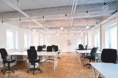 <b>灰白色调开放办公空间</b>