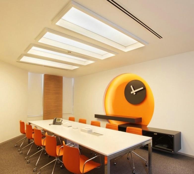 办公室装修公司迪家装饰设计师在会议室设计方案做了四套以供客户挑选图片