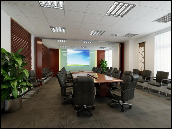 会议室过道装修效果图
