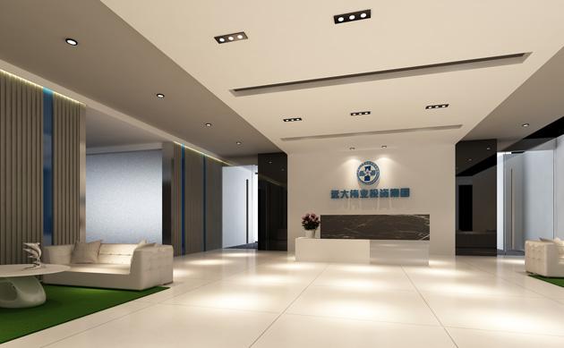 2013最新公司前台设计装修效果-郑州办公空间设计装修