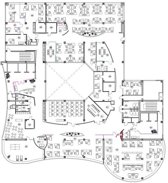 平面设计方案,也就是办公室装修平面设计图只有一套