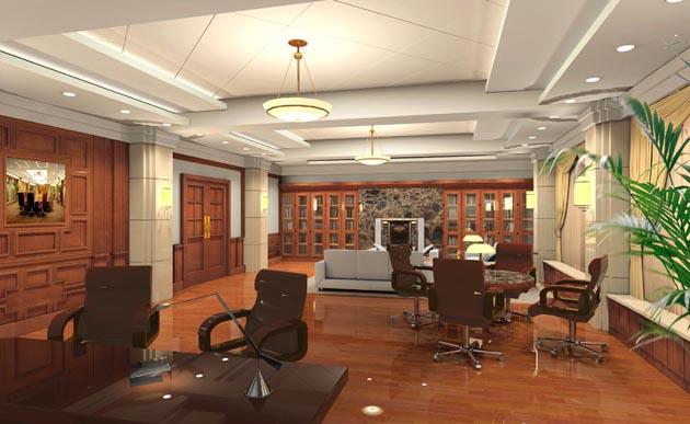 """4,办公空间中又融入了中式的设计元素,办公室背景墙早已成了设计的""""图片"""