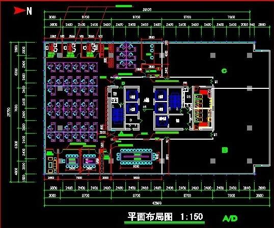 办公室装修平面图-办公室设计平面图
