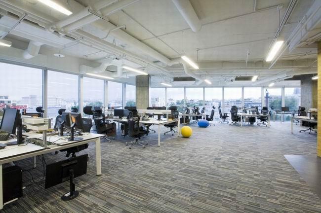 商务办公室装修设计效果图,商务办公室装修空间布局要做到个人和集体