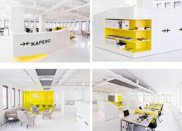 黄色主题办公室装修-办公空间