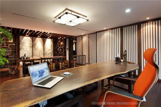 中式总裁办公室设计效果图