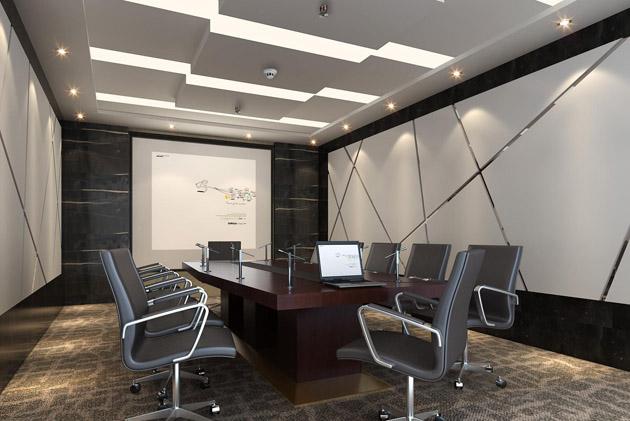 扬声器在会议室的前后各安装一对,为了获得更好的声音效果,要求距墙壁