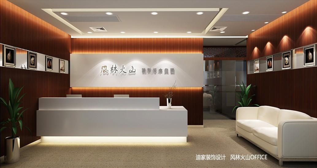白色的前台和沙发背灯光照射衬托显得格外清爽.图片