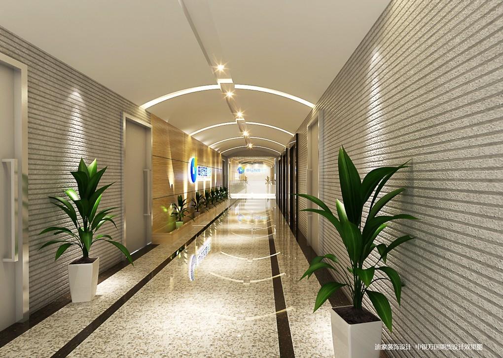 办公室走廊设计方案3:办公室走廊墙面装饰设计采用