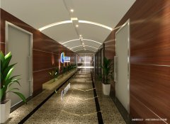 办公室走廊装修效果图