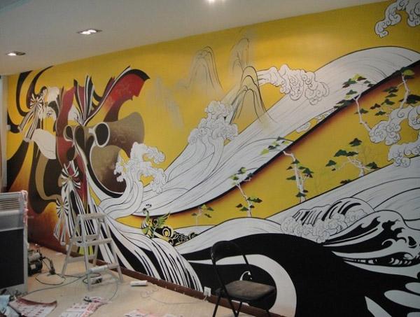 苏州走廊手绘图