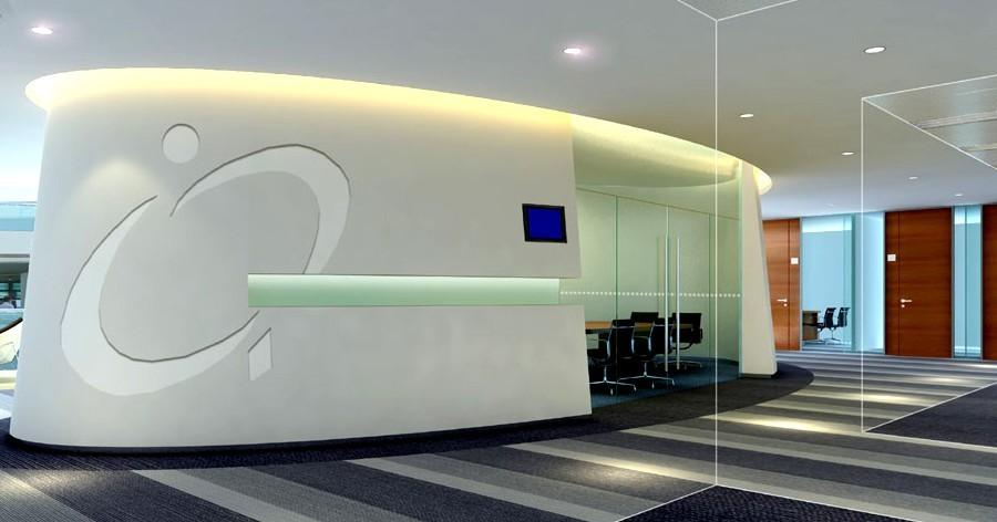 办公室装修依托界面的装饰