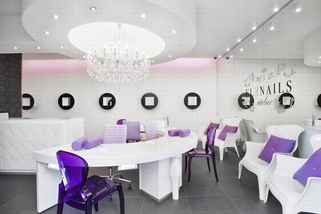 紫色主题办公空间设计