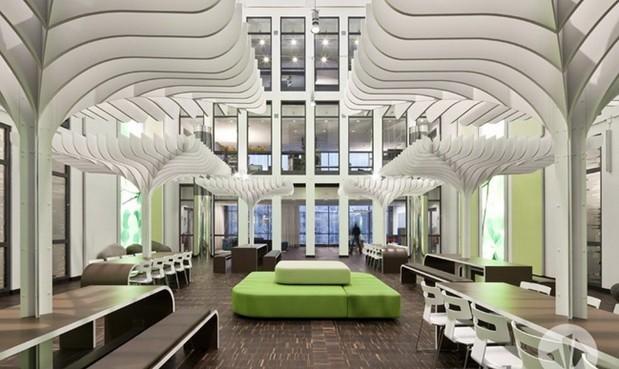 """办公室休息区设计成""""花园"""""""