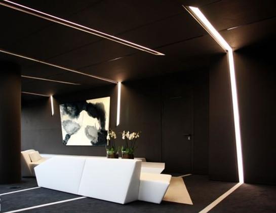 办公室前厅简洁几何形设计