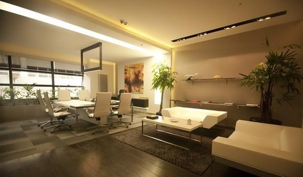 企业总部接待室设计效果图图片