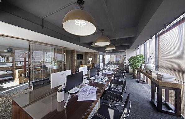 简约现代中式办公室装修图片