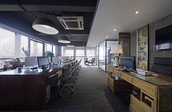 简约现代中式办公室装修