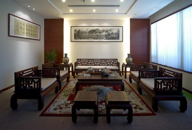 中式风格会议室装修效果图