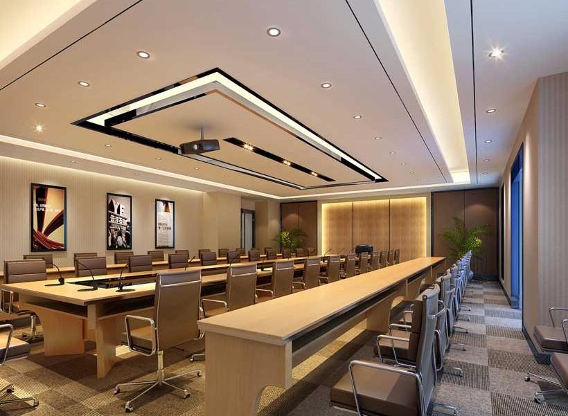 会议室装修效果图,现代化的会议室设计作为董事会