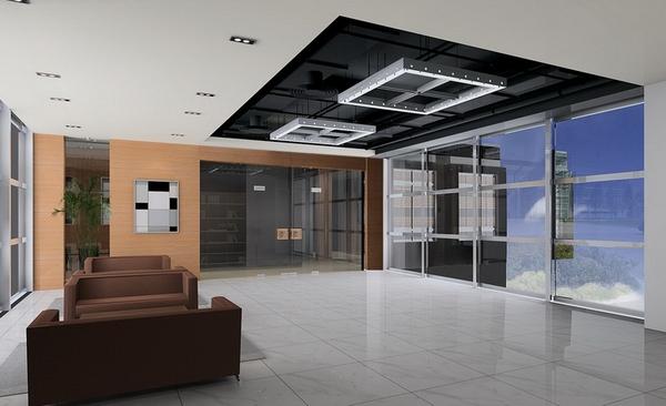 教育机构公司总部办公室装修设计,接待区设计二