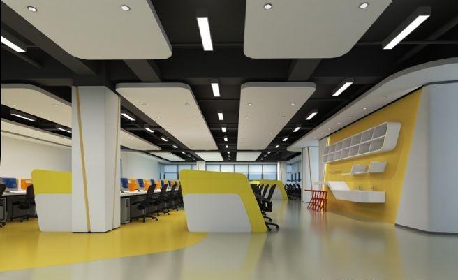 2000平方大办公室员工办公区设计