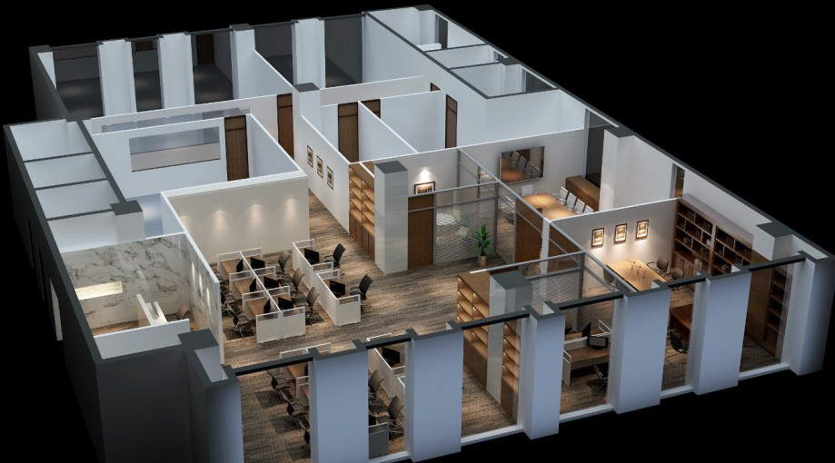 上海张江高科技园区办公室设计