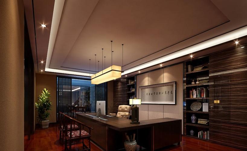 700平方现代中式办公室装饰案例