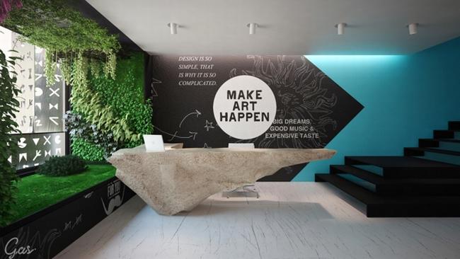 办公室装修 办公空间设计 办公区域设计   国外广告代理公司办公室