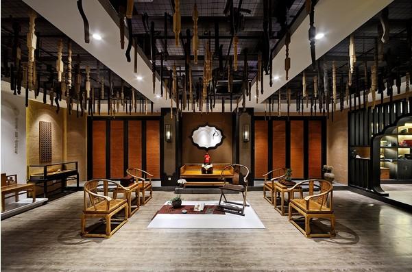 中式古典装修风格设计思想,现代会所装修中国风设计并非完全意义上的复古明清,而是通过中式风格的特征,表达对清雅含蓄、端庄丰华的东方式精神境界的追求。现代装修中式风格设计一般都比较稳重以及成熟, 现代办公室装修中国风设计并非完全意义上的复古明清,而是通过中式风