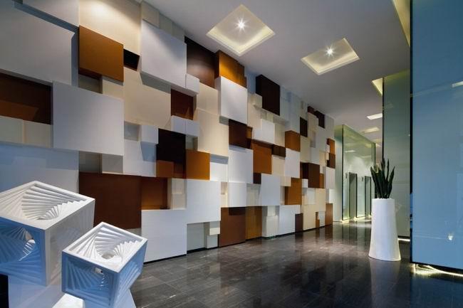 办公空间墙面装饰效果图