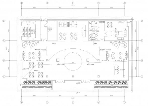 汽车销售公司平面布局装修方案-办公室设计平面图