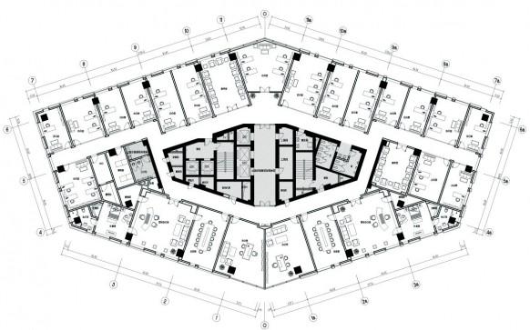 办公室平面布局方案-办公室设计平面图