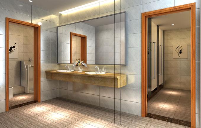办公区卫生间装修效果图-洗手间