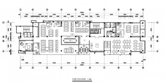 世界广场办公室装修施工图