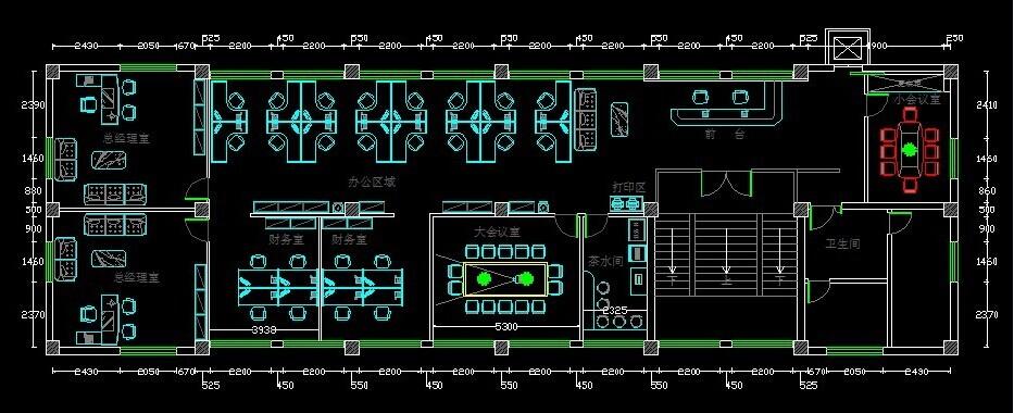 汽车配件(上海)办公室公司装修平面方案