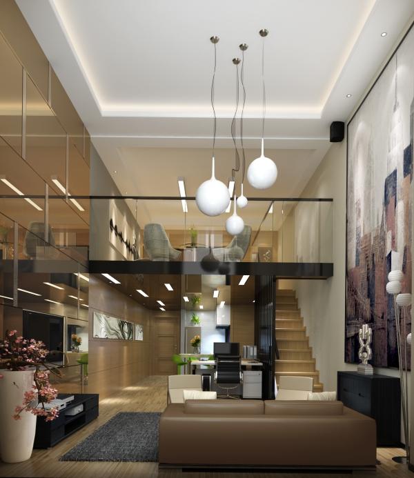 办公室装修 工程案例 办公室   小型复式办公室方案设计,上海有很多