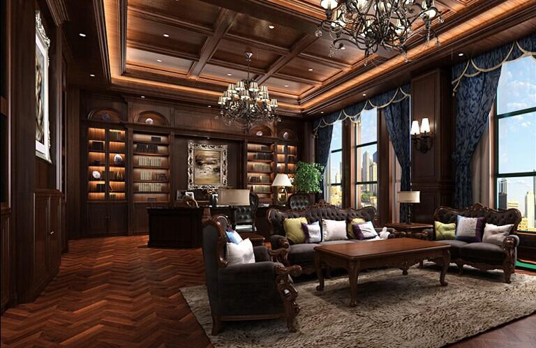 中国古典艺术办公室装修风格