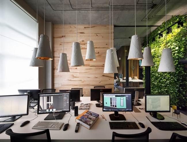 建筑公司适合办公的装修氛围