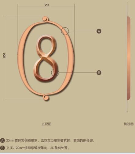 欧式办公标识牌设计