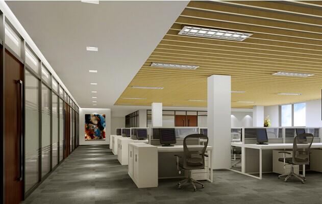 通信集团上海办公室装修员工办公室设计效果图