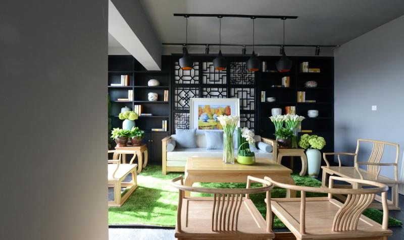 200平方新中式辦公室裝飾