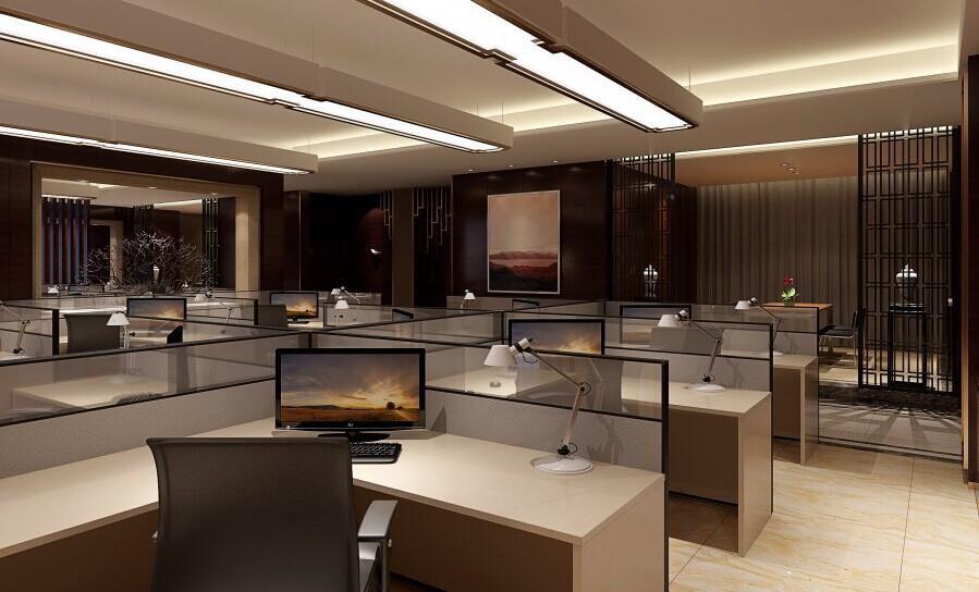 文化气息浓厚雅致中式办公设计
