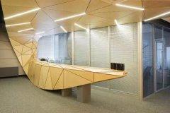 造型独特的办公室前台