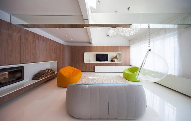 白色调简约清新员工休闲区设计