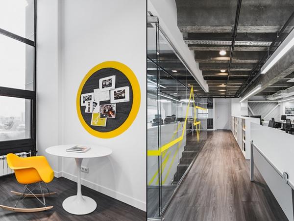 办公室装修 办公空间设计 办公区域设计   工业风阁楼式办公室装饰
