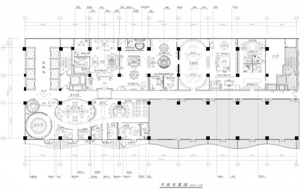 2000平方家具公司办公室平面设计